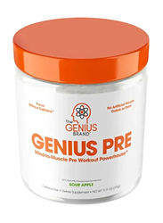 The Genius Brand Mind To Muscle Pre Workout Powerhouse Dietary Supplement Powder, 315gm, Sour Apple