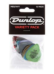 Dunlop PVP102 Picks, Medium/Heavy, 12 Pieces, Multicolour