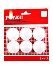 Jammi Ping Pong Table Tennis Balls, 6 Pieces, White