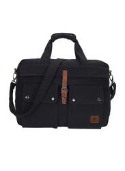 Veegul 15.6-inch Multifunctional Canvas Laptop Messenger Bag, Black