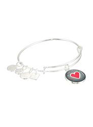 Alex And Ani Metal Charm Bracelet for Women, Silver