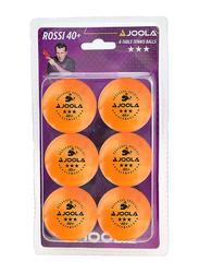 Joola Rossi 3-Star Table Tennis Balls, 6 Pieces, Orange