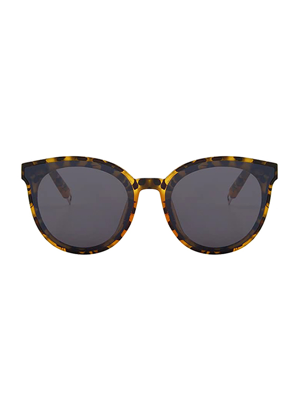 Merry's Vintage Full Rim Round Brown Sunglasses for Women, Mirrored Black Lens, S8094, 63/19/145