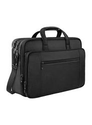 Mancro 17-inch Business Travel Messenger Laptop Bag, Water Resistant, Black