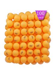 Mapol 3-Star Practice Ping Pong Table Tennis Balls, 100 Pieces, Orange