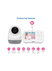 VTech Digital Video Baby Monitor with Pan and Tilt Camera, White