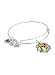 Alex and Ani Silver Plated Harry Potter Platform Charm Bracelet for Women, Silver/Gold Tone