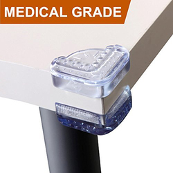Baby Mate Medical Grade Table Corner Guards, 16 Pieces, Clear