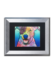 Trademark Fine Art Matilda Custom 003 by Dean Russo with Silver Frame, 11 x 14inch, Multicolour