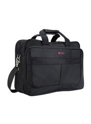 Nevetta 15.6-inch Nylon Messenger Laptop/Tablet Bag, Black