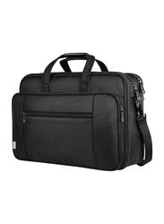 Taygeer 17-inch Briefcase Messenger Laptop Bag for Notebook, Water Resistant, Black
