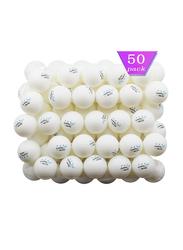 Mapol 3-Star Premium Training Ping Pong Table Tennis Balls, 50 Pieces, White