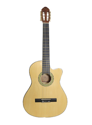 Passion CG861CE39 Classical Guitar with 2 Band EQ, Plywood Maple Fingerboard, Beige