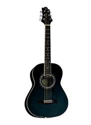 Samick ST6-1-BK Greg Bennett Design Acoustic Guitar, Rosewood Fingerboard, Dark Blue
