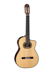 Takamine TH90 Classic Acoustic Guitar with Case, Ebony Fingerboard, Beige