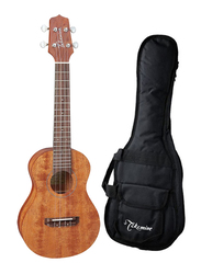 Takamine GUC1 Concert Acoustic Ukulele with Bag, Rosewood Fingerboard, Satin Natural/Black