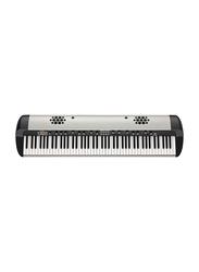 Korg SV2S Stage Vintage Digital Piano with Internal K-Array Speaker System, 88 Keys, Silver/Black