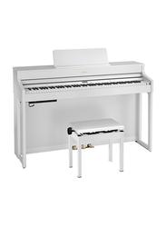 Roland HP702 Digital Piano, 88 Keys, White
