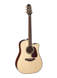 Takamine P4DC Dreadnought Acoustic Guitar with Case, Rosewood Fingerboard, Beige