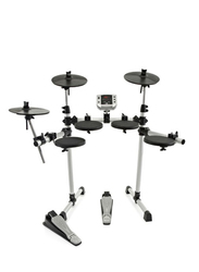 Medeli DD400 8-Piece Electronic Drum Kit with Mesh Heads, Black/Silver