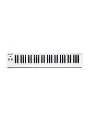 Musberry MSK61 Portable Electronic Keyboard, 61 Keys, Grey