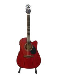 Samick D-4-CE Greg Bennett Design Acoustic Guitar, Rosewood Fingerboard, Red