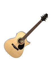Samick GA-100S-CE Greg Bennett Design Semi Acoustic Guitar, Rosewood Fingerboard, Natural Beige