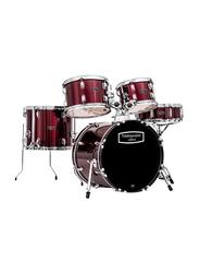 Mapex Tornado TND5844FT Acoustic Drum Set, Red