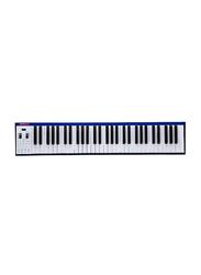 Musberry MSK61 Portable Electronic Keyboard, 61 Keys, Blue
