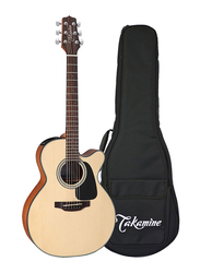 Takamine GX18CE-NS 3/4 Travel Size Acoustic Electric Guitar with Gig Bag, Laurel Fingerboard, Brown
