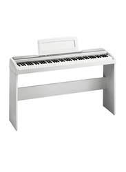 Korg SP-170S Digital Piano + SP Stand Bundle, 88 Keys, White