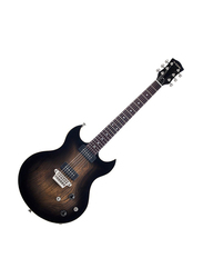 Vox SDC33 Double-Cutaway Electric Guitar, Rosewood Fingerboard, Brown