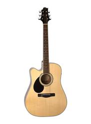 Samick GD-100S Greg Bennett Design Acoustic Guitar, Rosewood Fingerboard, Natural Beige