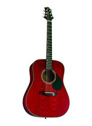 Samick D-4 Greg Bennett Design Acoustic Guitar, Rosewood Fingerboard, Red