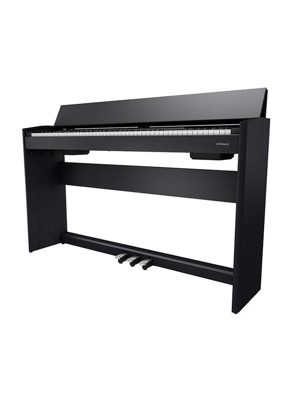 Roland F701 Digital Piano, 88 Keys, Contemporary Black