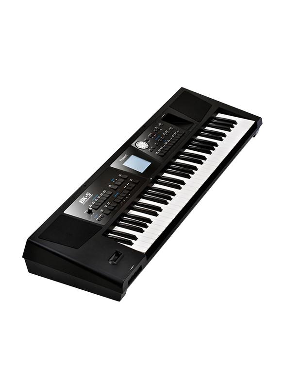 Roland BK-5 Music Keyboard, 61 Keys, Black