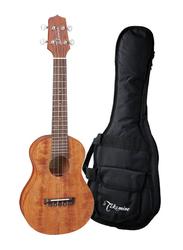 Takamine EGU-C1 Concert Acoustic Electric Ukulele with Bag, Rosewood Fingerboard, Brown/Black