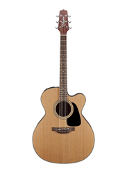 Takamine P1JC Jumbo Cutaway Acoustic Guitar with Case, Rosewood Fingerboard, Natural Beige