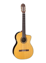 Takamine TC132SC Nylon String Acoustic Guitar with Case, Rosewood Fingerboard, Brown