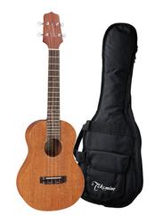 Takamine GUT1 Tenor Acoustic Electric Ukulele with Bag, Rosewood Fingerboard, Satin Natural/Black