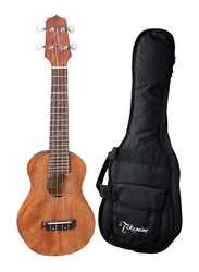 Takamine GUS1 Acoustic Ukulele with Bag, Rosewood Fingerboard, Brown