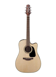Takamine P2DC Dreadnought Cutaway Acoustic Guitar with Case, Rosewood Fingerboard, Natural Beige