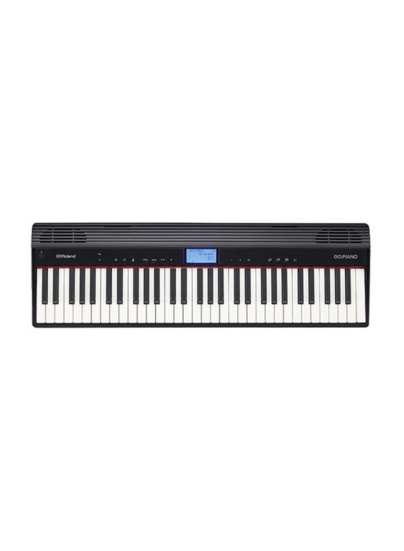 Roland GO-61P Digital Piano, 61 Keys, Black