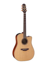 Takamine P3DC Dreadnought Acoustic Guitar with Case, Rosewood Fingerboard, Brown