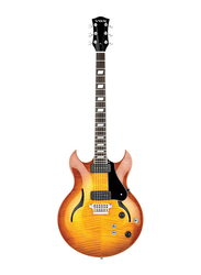 Vox HDC 77SB Electric Guitar with Case, Rosewood Fingerboard, Sienna Burst Brown