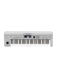 Korg Krome Limited Edition Synthesizer Workstation Keyboard, 61 Keys, Platinum Silver