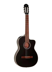 Takamine GC1CE-BLK Semi Classic Guitar, Laurel Fingerboard, Black