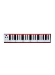 Musberry MSK61 Portable Electronic Keyboard, 61 Keys, Red