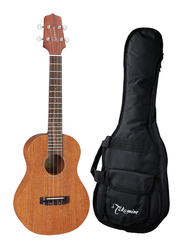 Takamine EGU-T1 Tenor Acoustic Electric Ukulele with Bag, Rosewood Fingerboard, Natural/Black