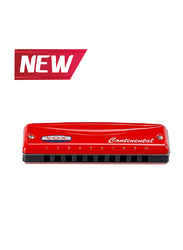Vox VCH2 Continental Type-2 10 Hole Diatonic Harmonica, Red